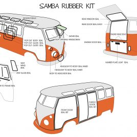 COMPLETE RUBBER KIT SAMBA