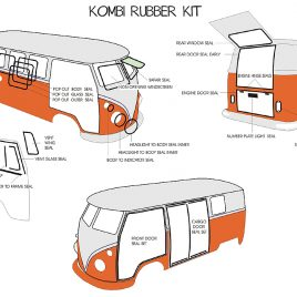 COMPLETE RUBBER KIT KOMBI